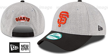 SF Giants THE-LEAGUE HEATHER STRAPBACK Grey-Black Hat by New Era