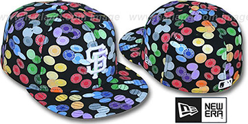 SF Giants TOKENS Black-Multi Fitted Hat by New Era