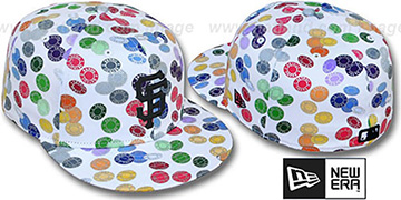SF Giants TOKENS White-Multi Fitted Hat by New Era