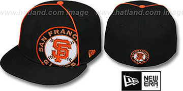 SF Giants TRIBULATOR Black Fitted Hat by New Era