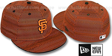 SF Giants 'TRIPPIN' Orange-Black Fitted Hat by New Era