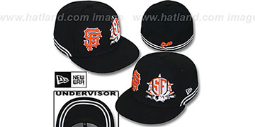 SF Giants TWO-BIT Black-White Fitted Hat by New Era