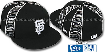 SF Giants URBAN JUNGLE Black Fitted Hat by New Era