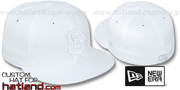 SF Giants WHITEOUT Fitted Hat by New Era