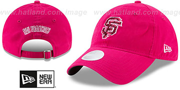 SF Giants WOMENS MOTHERS DAY GLIMMER STRAPBACK Pink Hat by New Era