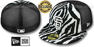 SF Giants ZEBRA ANIMAL-FUR MESH-BACK Fitted Hat by New Era