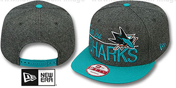 Sharks 'FLANNEL SNAPBACK' Grey-Teal Hat by New Era