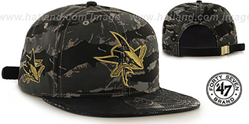 Sharks 'JULIGUNK STRAPBACK' Grey-Camo Hat by Twins 47 Brand