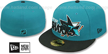 Sharks NHL-TIGHT Teal-Black Fitted Hat by New Era
