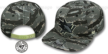 Sharks NIGHT-VISION SNAPBACK Adjustable Hat by Twins 47 Brand
