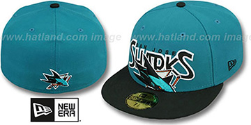 Sharks PROFILIN Teal-Black Fitted Hat by New Era