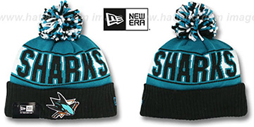 Sharks REP-UR-TEAM Knit Beanie Hat by New Era