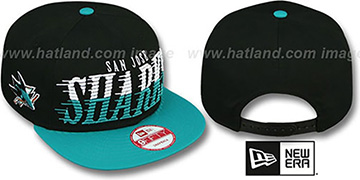Sharks SAILTIP SNAPBACK Black-Teal Hat by New Era