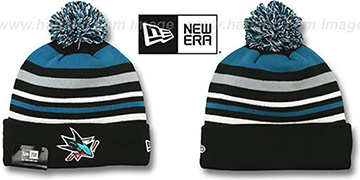 Sharks 'STRIPEOUT' Knit Beanie Hat by New Era