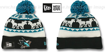 Sharks THE-MOOSER Knit Beanie Hat by New Era