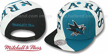 Sharks TWIRL SNAPBACK Hat by Mitchell & Ness