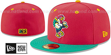 Shorebirds COPA Red-Aqua Fitted Hat by New Era