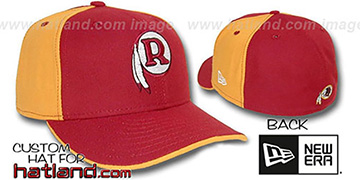 Skins THROWBACK 'PINWHEEL' Burgundy-Gold Fitted Hat