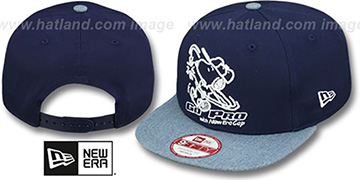 Snoopy 'BATTER-UP SNAPBACK' Navy-Blue Hat by New Era