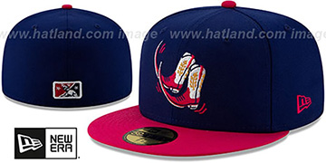 Sod Poodles COPA Navy-Fuschia Fitted Hat by New Era