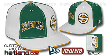 Sonics DOUBLE WHAMMY Kelly-White Fitted Hat