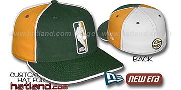 Sonics LOGOMAN-2 Green-Gold-White Fitted Hat by New Era