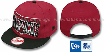 South Carolina LE-ARCH SNAPBACK Burgundy-Black Hat by New Era