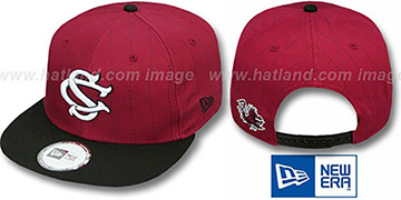 South Carolina 'TEAM-BASIC PINSTRIPE SNAPBACK' Burgundy-Black Hat by New Era