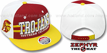 Southern Cal '2T SUPERSONIC SNAPBACK' Burgundy-Gold Hat by Zephyr