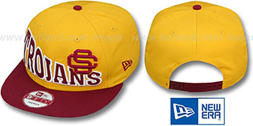 Southern Cal STOKED SNAPBACK Gold-Burgundy Hat by New Era