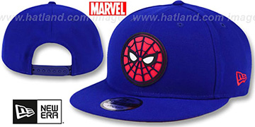 Spiderman 'BEVELED LOGO SNAPBACK' Royal Hat by New Era