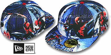 Spiderman 'HI-RES ALL-OVER' Multi Fitted Hat by New Era