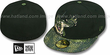 Spiderman LIZARD APPLIQUE Black Fitted Hat by New Era