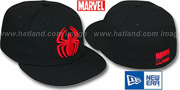 Spiderman 'SPIDER' Black-Red Fitted Hat by New Era