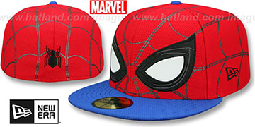 Spiderman 'WEB FACE ALL-OVER' Red-Royal Fitted Hat by New Era