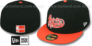 Spirits 'ABA TEAM-BASIC' Black-Orange Fitted Hat by New Era