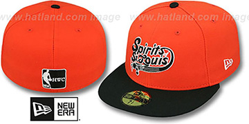 Spirits 'ABA TEAM-BASIC' Orange-Black Fitted Hat by New Era