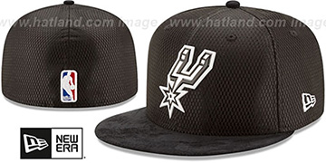 Spurs 2017 ONCOURT DRAFT Black Fitted Hat by New Era