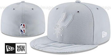 Spurs 2018 NBA ONCOURT ALL-STAR Grey Fitted Hat by New Era