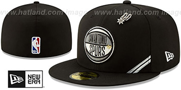 Spurs 2019 NBA DRAFT Black Fitted Hat by New Era