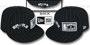 Spurs BIG-ONE DOUBLE WHAMMY Black-White Fitted Hat