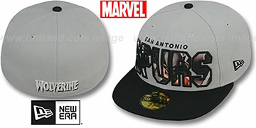 Spurs 'BIG WORD ACTION' Grey-Black Fitted Hat by New Era