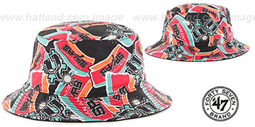 Spurs 'BRAVADO BUCKET' Hat by Twins 47 Brand