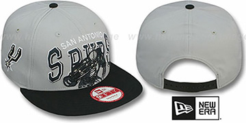 Spurs 'CHALK-UP HERO SNAPBACK' Grey-Black Hat by New Era