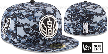 Spurs 'CITY-SERIES' Camo Fitted Hat by New Era