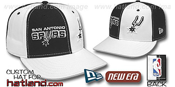 Spurs 'DOUBLE WHAMMY' Black-White Fitted Hat