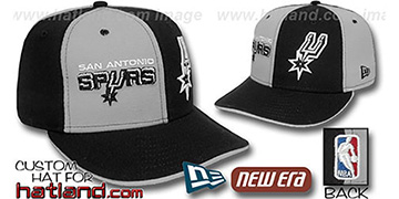 Spurs 'DOUBLE WHAMMY' Grey-Black Fitted Hat