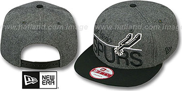 Spurs 'FLANNEL SNAPBACK' Grey-Black Hat by New Era