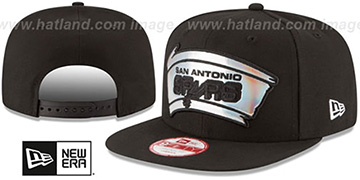 Spurs 'FOIL LOGO SNAPBACK' Black Hat by New Era