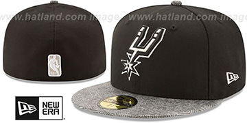 Spurs GRIPPING-VIZE Black-Grey Fitted Hat by New Era